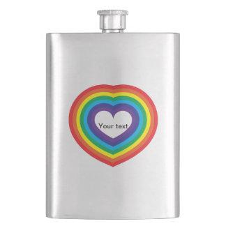 Porta Bebida Coração do arco-íris