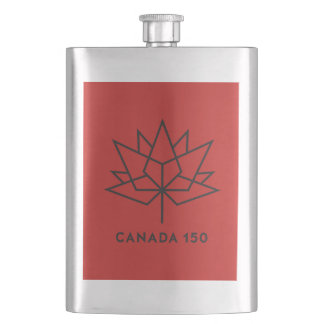 Porta Bebida Logotipo do oficial de Canadá 150 - vermelho e