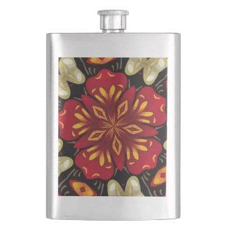 Porta Bebida Mandala tropical das flores e das borboletas