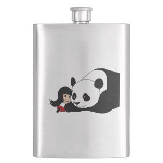 Porta Bebida Menina e panda