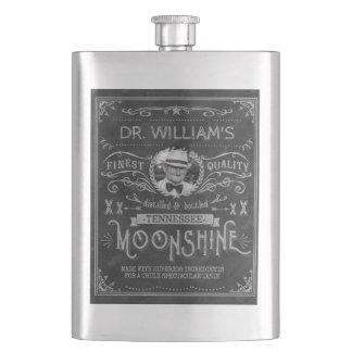 Porta Bebida Moonshine cinzas do costume do vintage da medicina