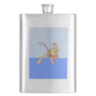 Porta Bebida Pescador dentro da garrafa clássica