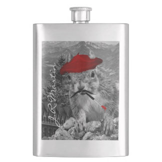 Porta Bebida Pintor francês no esquilo vermelho da boina