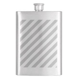 Porta Bebida Teste padrão diagonal do cinza e o branco das