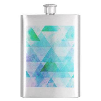 Porta Bebida Teste padrão geométrico da aguarela azul