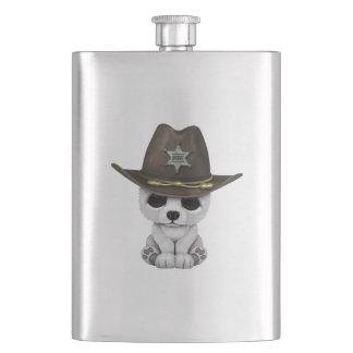 Porta Bebida Xerife bonito de Cub de urso polar do bebê