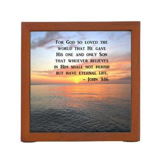 PORTA-CANETA 3:16 DE JOHN DO NASCER DO SOL QUE INSPIRA A FOTO