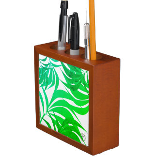 Porta-caneta A Lifsetyle-Floresta de OL esverdeia a mesa