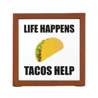 Porta-caneta A vida acontece ajuda do Tacos