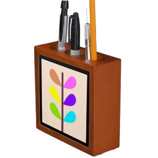 Porta-caneta Abstrato colorido da planta