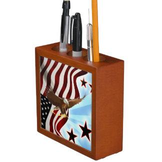 Porta-caneta Águia americana