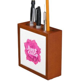 Porta-caneta Apenas texto bonito sobre o rosa do rosa
