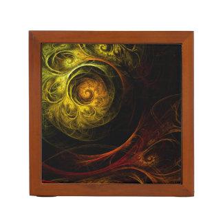 Porta Caneta Arte abstracta vermelha floral do nascer do sol