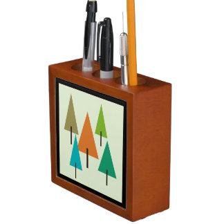 Porta-caneta Arte contemporânea da árvore