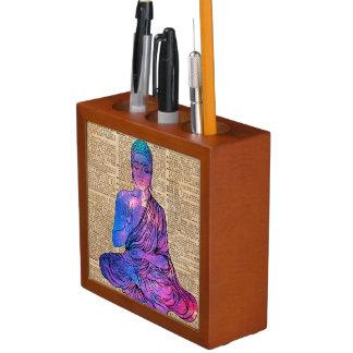 Porta-caneta Arte do dicionário de Buddha do espaço