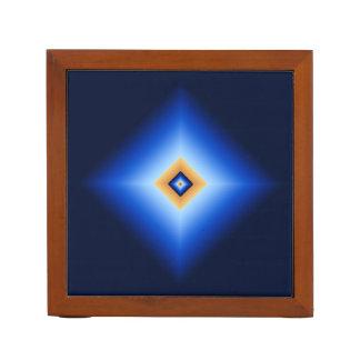 Porta-caneta Azul e diamante de Tan