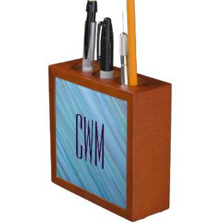 Porta-caneta Azul Laidback | do Aqua de turquesa do monograma