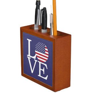Porta Caneta Bandeira dos Estados Unidos