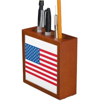 Porta-caneta Bandeira dos Estados Unidos da bandeira dos EUA