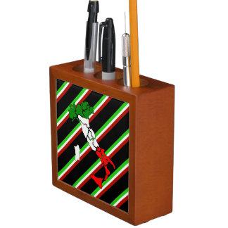 Porta-caneta Bandeira italiana das listras