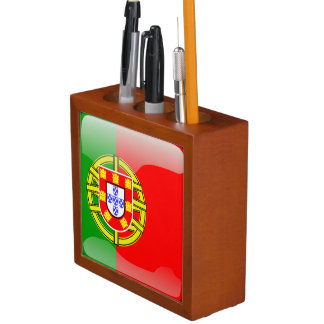 Porta-caneta Bandeira lustrosa de Portugal