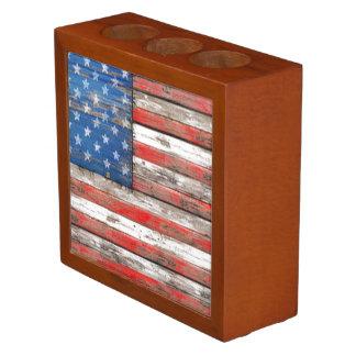 Porta-caneta Bandeira referente à cultura norte-americana