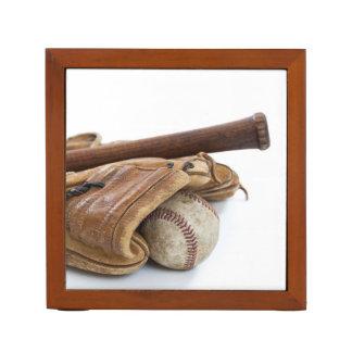Porta-caneta Basebol e bastão do vintage