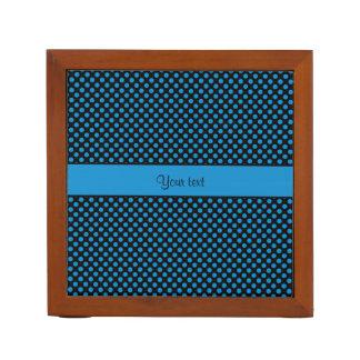 Porta-caneta Bolinhas azuis