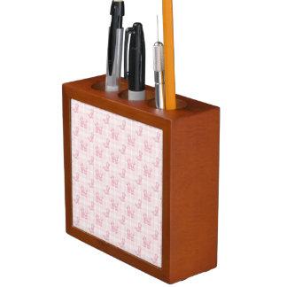Porta Caneta Caniches cor-de-rosa bonitos & verificações