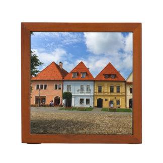 Porta Caneta Casas de cidade velhas em Bardejov, Slovakia