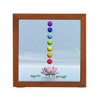 Porta Caneta Chakras e arco-íris - 3D rendem