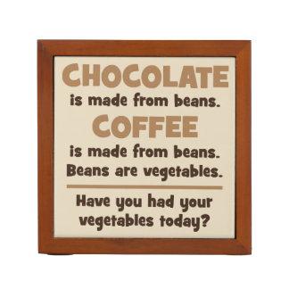 Porta Caneta Chocolate, café, feijões, vegetais - novidade