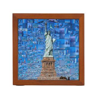 Porta-caneta colagem da estátua da liberdade - arte da estátua