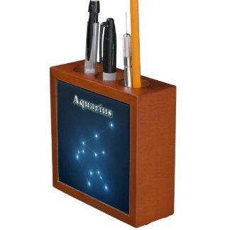 Porta-caneta Constelação do Aquário
