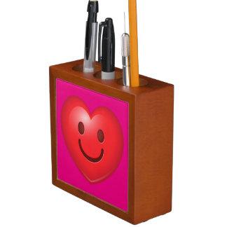 Porta Caneta Coração feliz Emoji