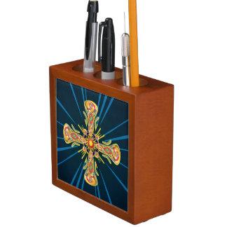 Porta-caneta Cruz da jóia