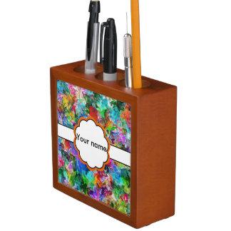 Porta Caneta Design colorido do abstrato da mistura
