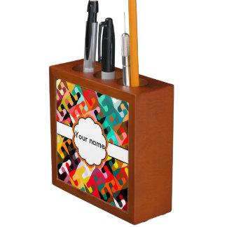 Porta-caneta Design colorido do abstrato das formas