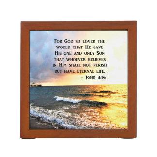 PORTA CANETA DESIGN DE INSPIRAÇÃO DA FOTO DO OCEANO DO 3:16 DE