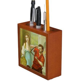 Porta-caneta Detalhe do St. Agatha da imagem dobro (M 003)