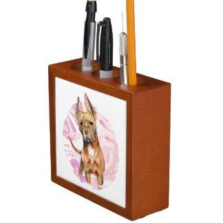 """Porta-caneta Do """"orelhas coelho"""" pintura da aguarela do cão de"""