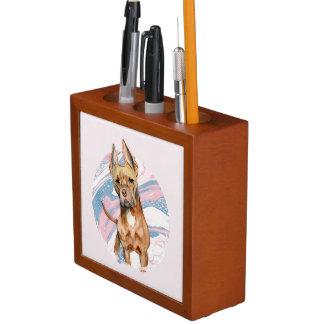 """Porta Caneta Do """"pintura da aguarela do cão do pitbull das"""