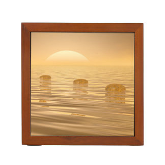 Porta Caneta Etapas no oceano - 3D rendem