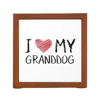 Porta-caneta Eu amo meu Granddog