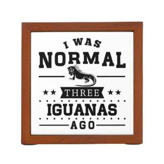 Porta-caneta Eu era três iguanas normais há