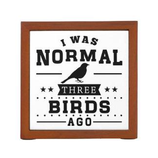 Porta-caneta Eu era três pássaros normais há