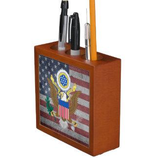 Porta Caneta Grande selo dos Estados Unidos