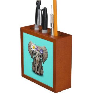 Porta Caneta Hippie bonito do elefante do bebê
