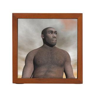 Porta-caneta Homo erectus masculino - 3D rendem