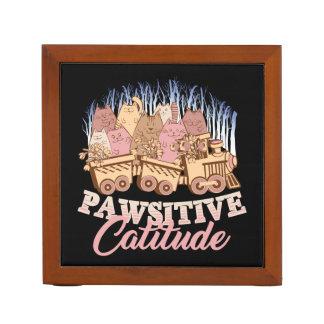 Porta Caneta Humor do gato - atitude de Pawsitive - novidade